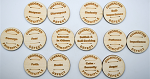 From Drop The Rock - Program Principle - Character Defect Wooden Coins